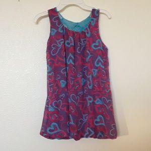George Girls 10-12 Sheer Lined Top w/Crochet Back